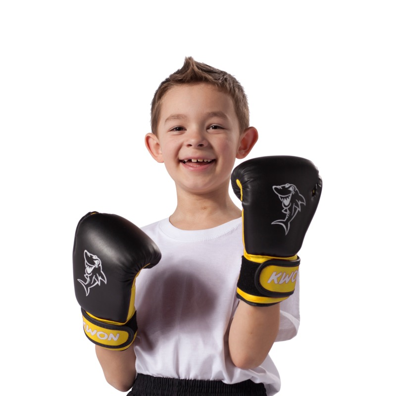 gants de boxe enfant mini shark kwon. Black Bedroom Furniture Sets. Home Design Ideas
