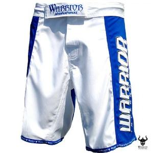 Short MMA Warrior bleu-blanc