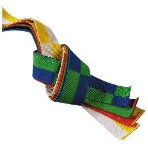 Ceinture sangle karate bi-couleurs Noris