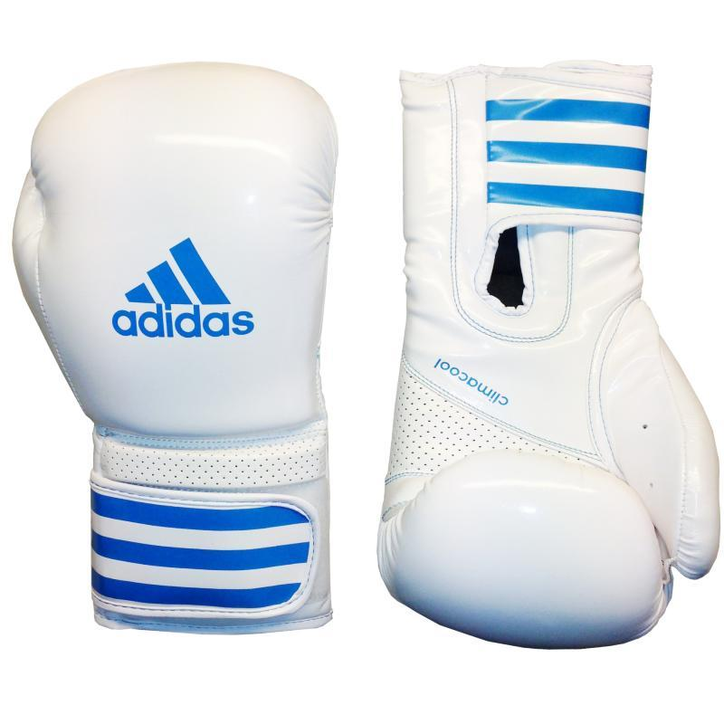 gants de boxe adidas fit pro blanc bleu adibl06. Black Bedroom Furniture Sets. Home Design Ideas