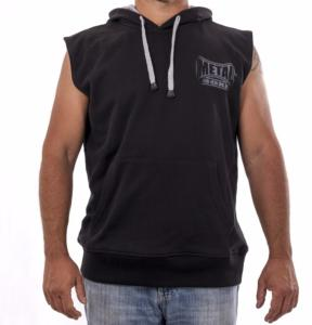 Sweat capuche sans manches Metal Boxe S