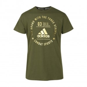T-shirt Adidas Arts Martiaux Community Kaki/Or XS