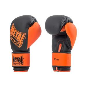 Gants de boxe Metal Boxe Iron noir/orange 10 Oz
