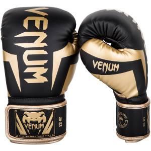 Gants de boxe Venum Elite NoirOr 12 Oz