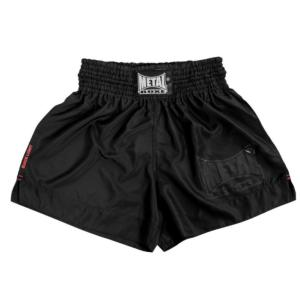 Short de boxe thaïlandaise Black Light - Metal Boxe M