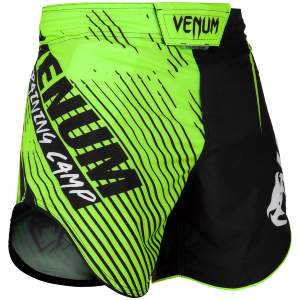 Fightshort court Venum Training Camp 2.0 - Noir/Jaune Fluo S