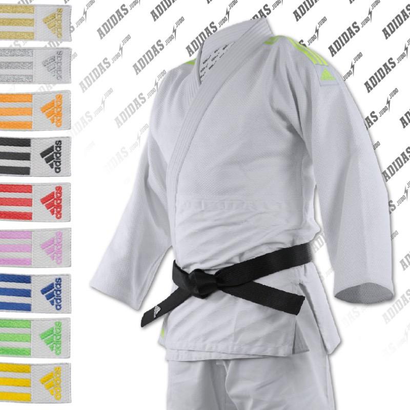 Kimono de judo adidas Quest J690 bandes rose