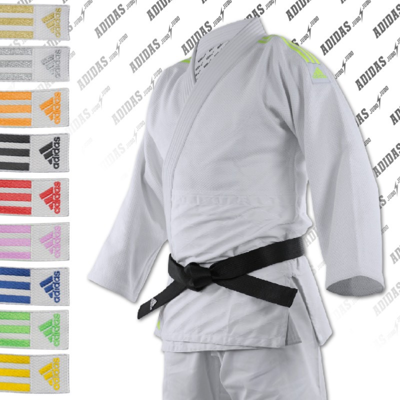 united kingdom discount shop new high Kimono de judo adidas Quest J690 bandes noir