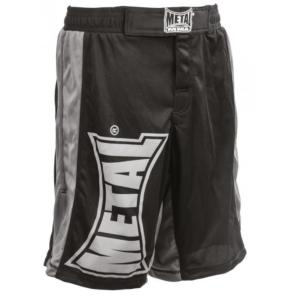 Short de Multifight noir - Metal Boxe S