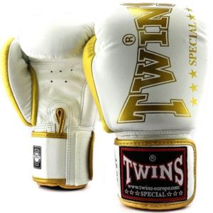 Gants de boxe Twins Special BGVL8 - Blanc/Or 10 Oz