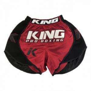 Short de Boxe Thaï King Pro Boxing - Rouge/Noir M