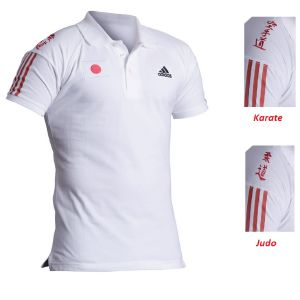 "Polo Judo adidas manche courte ""Country"" blanc -  2XL"