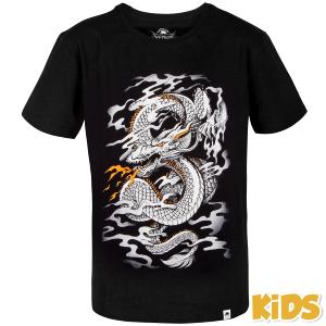 T-shirt Venum Dragon's Flight enfant noir/blanc 12 ans