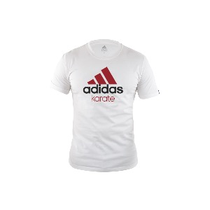 Tee Shirt adidas Karate Community Blanc-rouge XL
