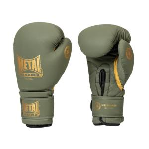 Gants de boxe Military vert/or - Metal Boxe 8 Oz