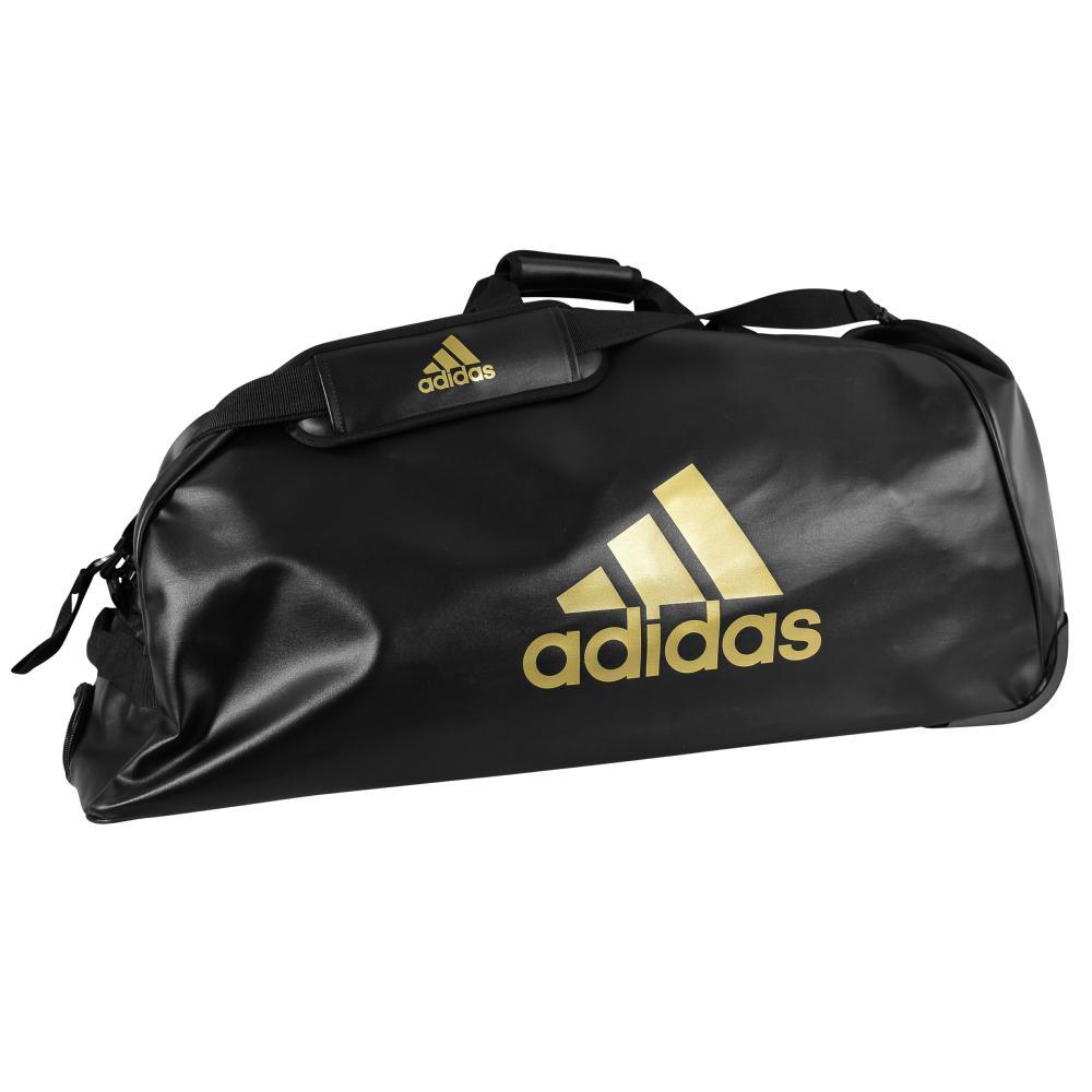 save off b203c b210a Sac Adidas Combat Sport à roulettes Noir Or