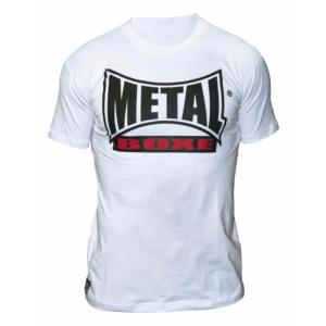 T-shirt Visual blanc  Metal Boxe S
