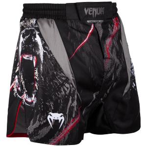 Fight short court Venum Grizzli noir S