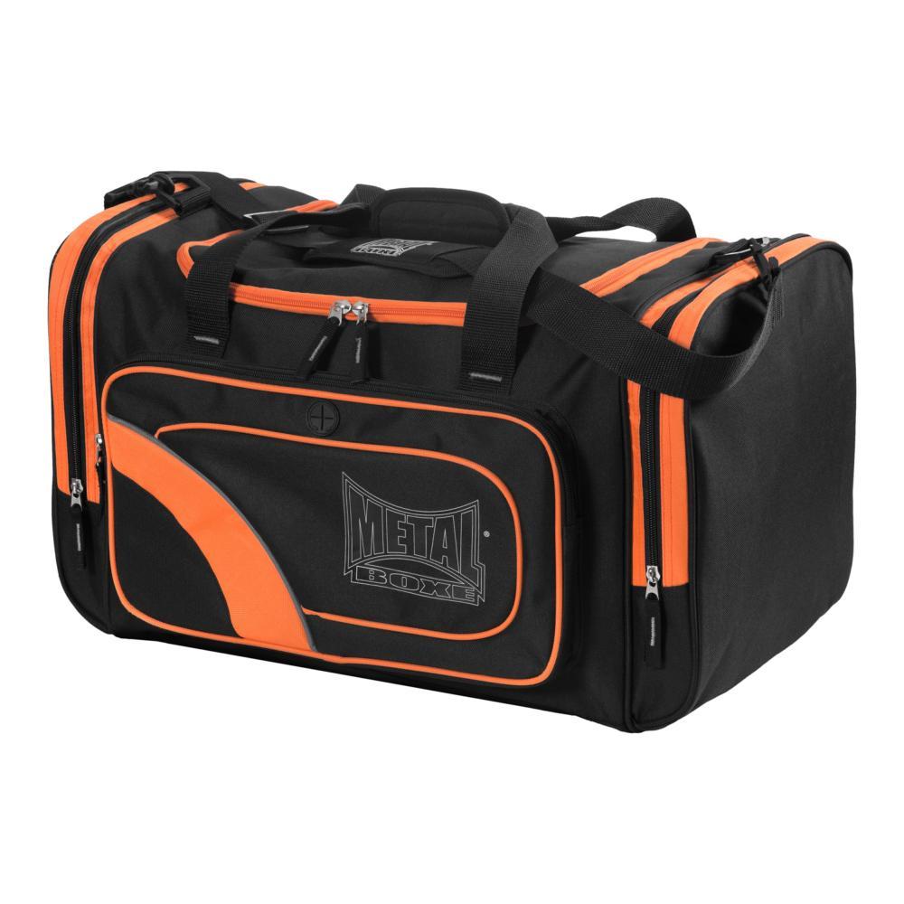 sac de sport metal boxe medium noir orange. Black Bedroom Furniture Sets. Home Design Ideas