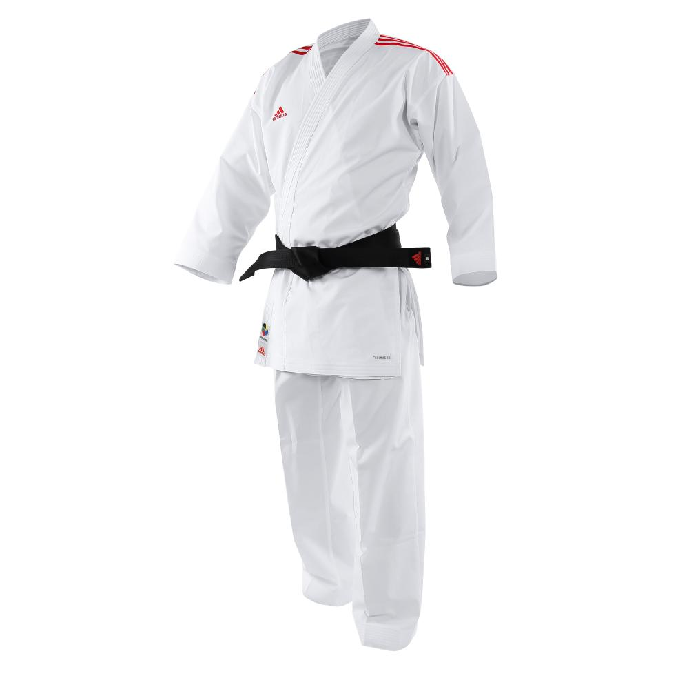 Kimono de Karate Adidas Revo FLex à Bandes Rouge 165 cm