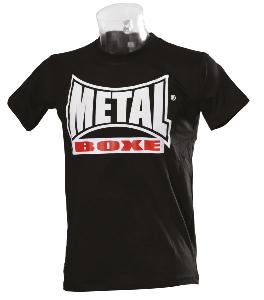 T-shirt Visual noir Metal Boxe S