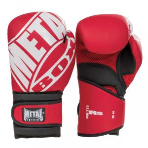 Gants Multiboxe Pro Metal Boxe RS Rouge/Blanc 8 Oz
